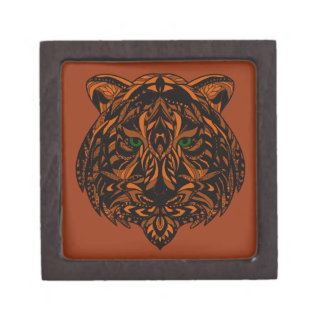 Hand-Colored Tiger Design Multiple Products Jewelry Box
