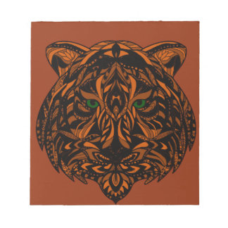 Hand-Colored Tiger Design Multiple Products Notepad