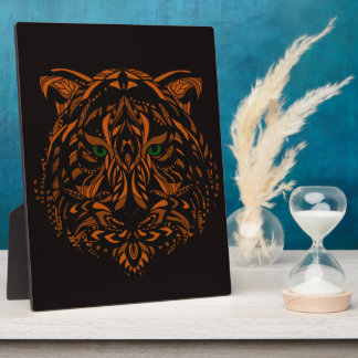 Hand-Colored Tiger Design Multiple Products Plaque