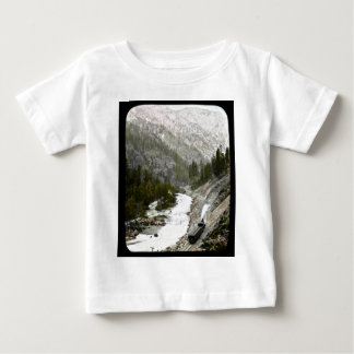Hand Colored Train  Offcial Photographe Baby T-Shirt