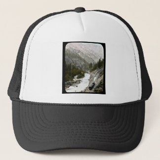 Hand Colored Train  Offcial Photographe Trucker Hat