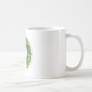 Hand colored Victorian Era Leaves in a circle Classic White Coffee Mug
