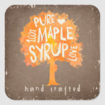 Hand Crafted Maple Syrup Product Label Sticker
