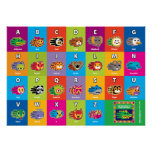 Hand shaped Hand Critter English ABC Alphabet for Kids Poster