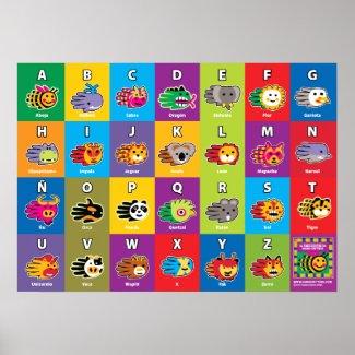 Hand Critter Spanish ABC Alphabet for Kids