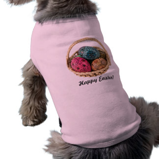 Hand Decorated Easter Eggs Dog Shirt