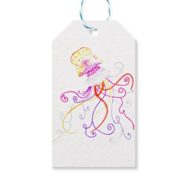 Beach Themed Hand Designed Jellyfish Gift Tag
