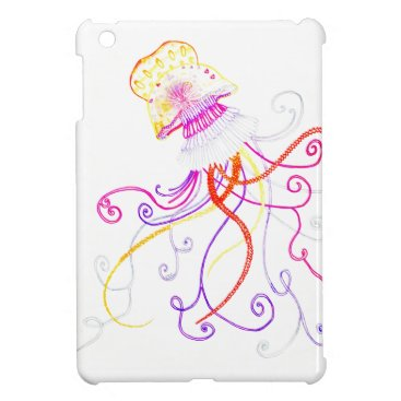 Beach Themed Hand Designed Jellyfish iPad Mini Case