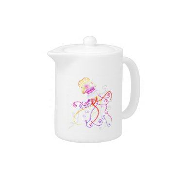 Beach Themed Hand Designed Jellyfish Teapot