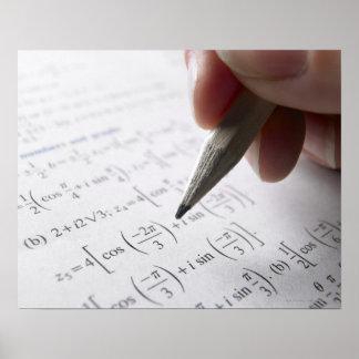 Doing math homework