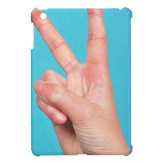 Hand  doing peace signs case for the iPad mini
