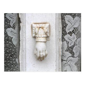 Hand Door Knocker on Canyon Road, Santa Fe Postcard