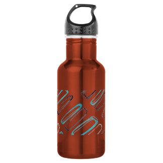 Hand draw pattern 18oz water bottle