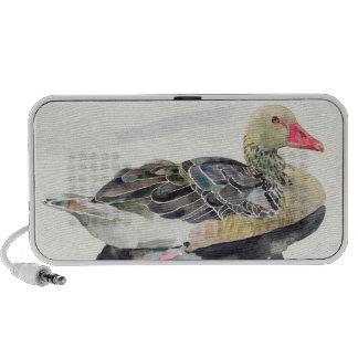 Hand Draw Watercolor Bird, Duck Notebook Speakers