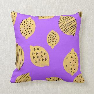 Hand drawing Lemon Fruit Throw Pillow