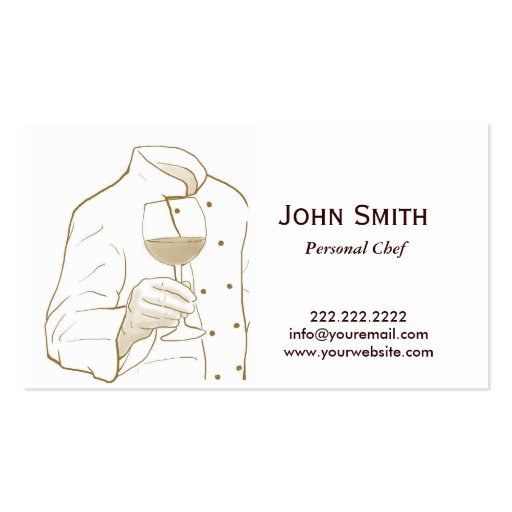Hand Drawing Personal Chef Business Card | Zazzle