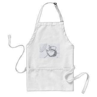 Hand Drawing Teapot Still Life Gear Adult Apron