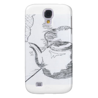 Hand Drawing Teapot Still Life Gear Galaxy S4 Covers