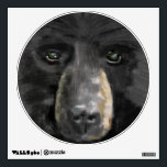 """hand drawm image Black bear face Wall Decal<br><div class=""""desc"""">This will keep the monsters at bat for sure.  Our one of a kind,  hand drawn,  close up image of a black bear can protect you through the night or  stand out in the man cave.  PERFECT.</div>"""