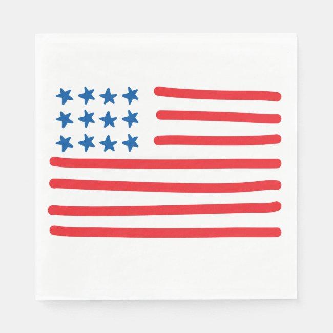 Hand Drawn American Flag | 4th of July