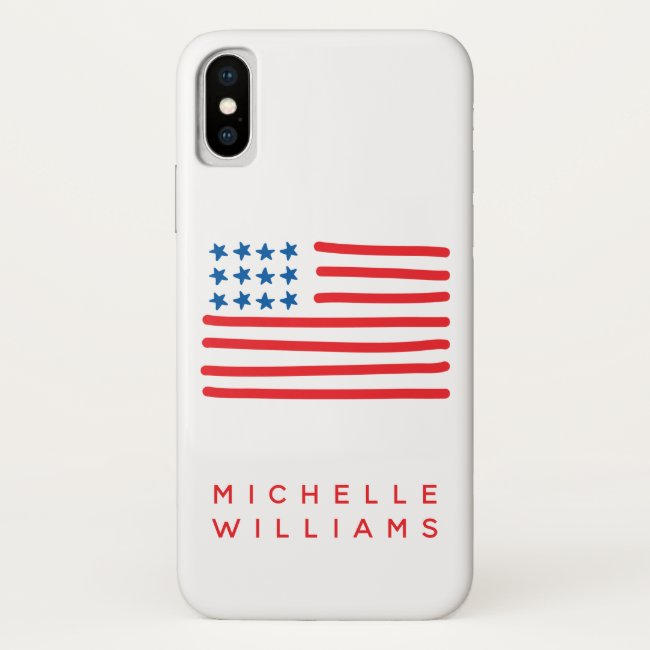 Hand Drawn American Flag | Personalized