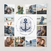 Hand Drawn Anchor | Photo Collage Save the Date