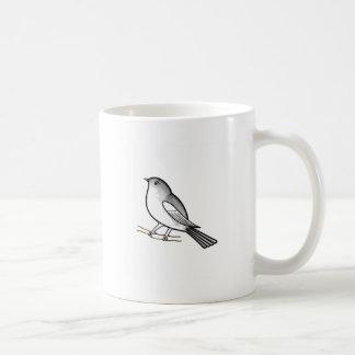 Hand drawn bird on a twig mugs