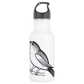 Hand drawn bird on a twig stainless steel water bottle