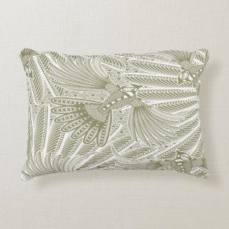 Hand Drawn Bird Silhouette Decorative Pillow