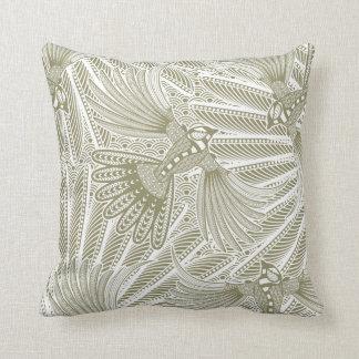 Hand Drawn Bird Silhouette Pillow
