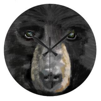 Hand drawn black bear image. wallclocks