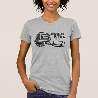 Hand drawn Books & Tea T-Shirt