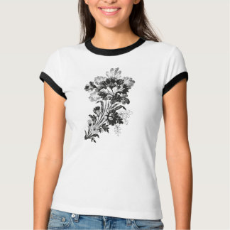 Hand drawn bouquet of flowers realistic T-Shirt