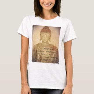 Hand Drawn Buddha Tee, Women's Basic T-Shirt
