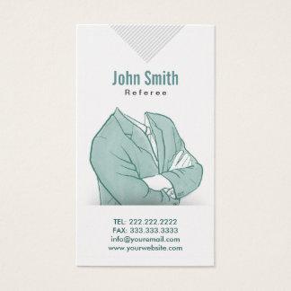 Hand Drawn Businessman Referee Business Card