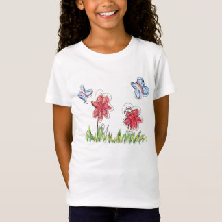 Hand drawn butterflies and flowers... T-Shirt