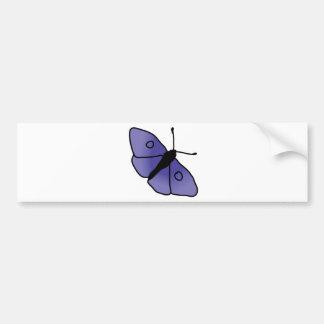 Hand Drawn Butterfly Bumper Sticker