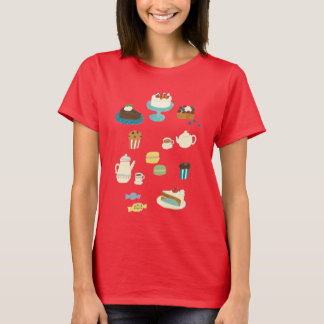Hand-drawn Cakes, Pies, and Teapots T-Shirt