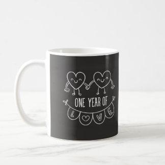 Hand Drawn Chalboard 1st Anniversary Mug