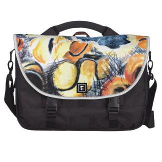 Hand drawn Chalk Tennis Ball art Laptop Bag