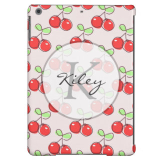 Hand Drawn Cherries, Pink Fruit Pattern Case For iPad Air