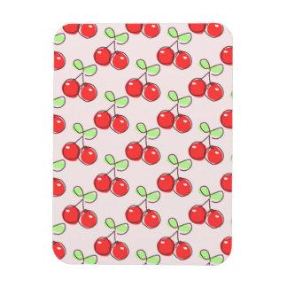 Hand Drawn Cherries, Pink Fruit Pattern Flexible Magnet