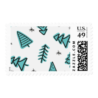 Hand-drawn Christmas Tree Stamps