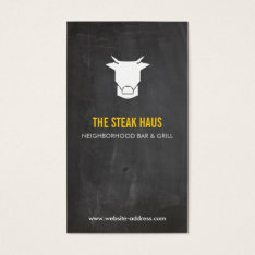 HAND-DRAWN COW LOGO 2 for Restaurants, Chefs, Pubs Business Card at Zazzle