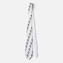 Hand Drawn Cross Neck Tie
