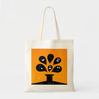 Hand drawn cute Tote bag with Ghosts