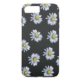 Hand Drawn Daisy Flowers on Black Background iPhone 8 Plus/7 Plus Case