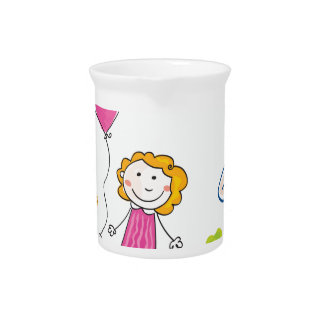 Hand drawn Doodle Kids and Family : Tshirts Drink Pitcher