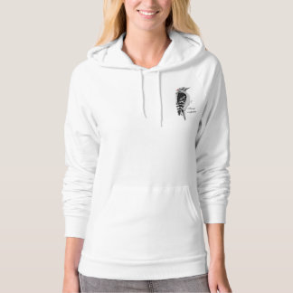 Hand drawn Downy woodpecker Hoodie