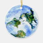 Hand Drawn Earth Ceramic Ornament